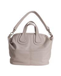 Givenchy - Natural Powder Lambskin Nightingale Medium Top Handle Bag - Lyst