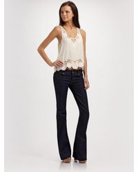 Joie | White Varina Silk Floral Eyelet Top | Lyst