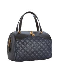 Marc Jacobs | Blue Quilted Canvas and Leather Westside Boston Bag | Lyst