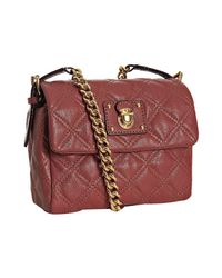 Marc Jacobs | Pink Rose Quilted Leather Debbie Crossbody Bag | Lyst