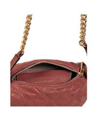 Marc Jacobs - Pink Rose Quilted Leather Debbie Crossbody Bag - Lyst