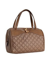 Marc Jacobs - Brown Taupe Quilted Canvas and Leather Westside Boston Bag - Lyst