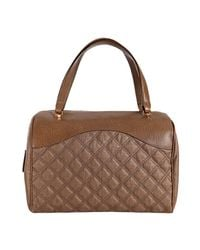 Marc Jacobs | Brown Taupe Quilted Canvas and Leather Westside Boston Bag | Lyst