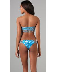 Mikoh Swimwear - Blue Corsica String Back Bikini Top - Lyst