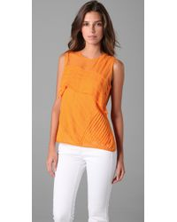 Nanette Lepore | Yellow Tuckered Out Top | Lyst
