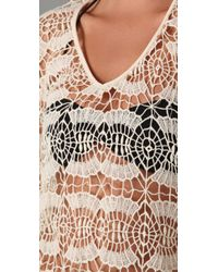 OndadeMar - White Bohemian Lace Cover Up - Lyst