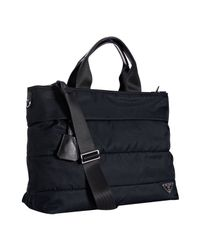 Prada | Blue Nylon Folded Seamed Shopping Tote | Lyst