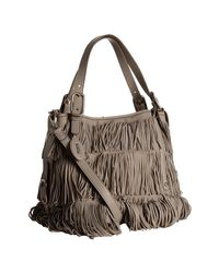 Tod's | Brown Clay Suede G-bag Fringe Media Tote Bag | Lyst