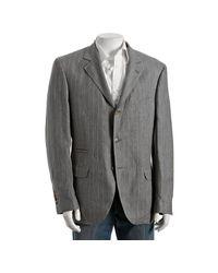 Brunello Cucinelli | Gray Grey Pinstripe Linen 3-button Blazer for Men | Lyst