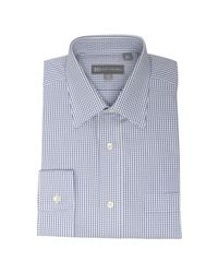Hickey Freeman | Dark Blue Tattersall Check Pocket Dress Shirt for Men | Lyst
