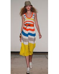 Marc By Marc Jacobs - Yellow Simone Stripe Dress - Lyst