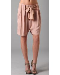 By Malene Birger | Natural Short with Bow | Lyst
