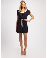 MILLY | Blue Knotted Rope Dress | Lyst