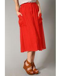 Rebecca Taylor | Orange Pin Dot Skirt in Cherry | Lyst