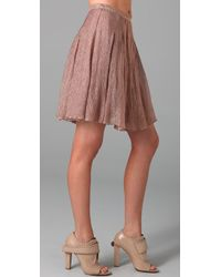 Opening Ceremony - Pink Reverse Pleated Skirt - Lyst