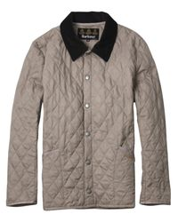 Barbour - Gray Grey Liddesdale Quilted Jacket for Men - Lyst