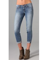 Joe's Jeans | Blue Leah Raw Hem Kicker Jeans | Lyst