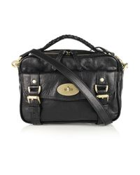 Mulberry | Black Postmans Lock Leather Shoulder Bag | Lyst