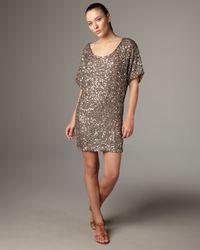 VINCE | Metallic Cluster Sequin Dress | Lyst