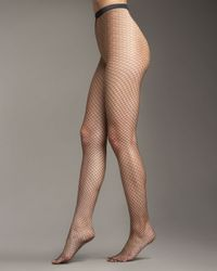 Wolford | Black Sixty-six Fine Fishnet Tights | Lyst