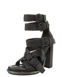 Alexander Wang | Black Petra Braid-strap Sandal | Lyst