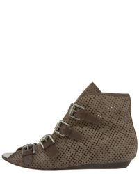 Ash - Green Perforated Flat Bootie - Lyst