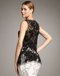 Naeem Khan | Black Sheer Beaded Tank | Lyst