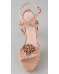 Opening Ceremony | Natural Pom Pom Platform Sandals | Lyst