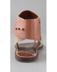 Sam Edelman - Natural Grady Ankle Cuff Thong Sandals - Lyst