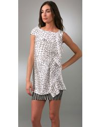Thayer | White Ruffle Front Tunic | Lyst