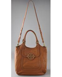 Tory Burch - Brown Amanda Shopper Bag - Lyst