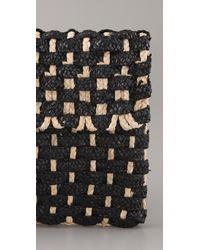 Zimmermann - Black Woven Straw Clutch - Lyst