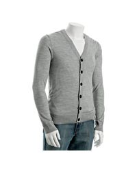 Adam Lippes | Gray Sandstone Merino Wool Cardigan for Men | Lyst