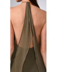 Alice + Olivia - Green Drapey Panel Dress - Lyst