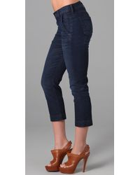Citizens of Humanity - Blue Taylor Cropped Trouser Jeans - Lyst