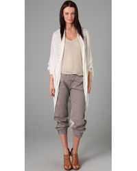 L.A.M.B. | White Long Cardigan | Lyst