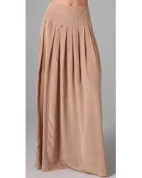 Lover | Natural Silk Maxi Skirt | Lyst