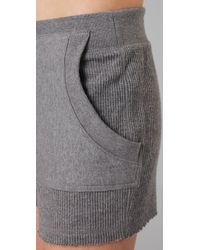 T By Alexander Wang | Gray Siro French Terry Sweatshorts | Lyst