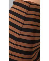 Torn By Ronny Kobo | Brown Astrid Striped Miniskirt | Lyst