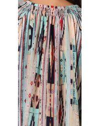 Tucker | Multicolor 3/4 Sleeve Multi Print Blouse | Lyst