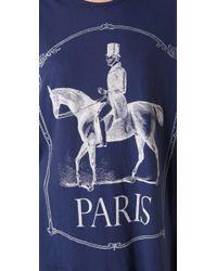 Wildfox - Blue Paris Pony Tee - Lyst