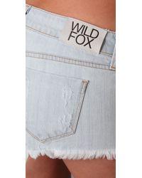 Wildfox - Blue Friday Night Shorts - Lyst
