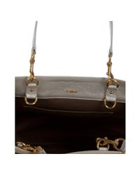 Chloé - Champagne Metallic Faux Leather Eden Tote - Lyst