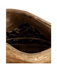 Elie Tahari | Gold Metallic Cork Cynthia Chain Shoulder Bag | Lyst