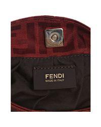Fendi | Red Zucca Canvas Mini Shoulder Bag | Lyst