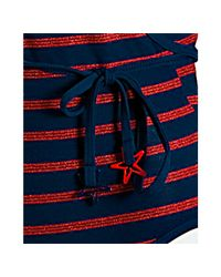 Marc By Marc Jacobs - Twilight Blue Disco Stripe 70s Crossover Swimsuit - Lyst