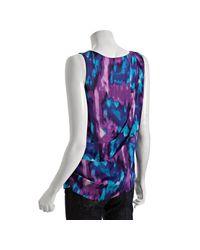MICHAEL Michael Kors - Blue Eclipse Tie-dye Print Cascade Layered Tank - Lyst