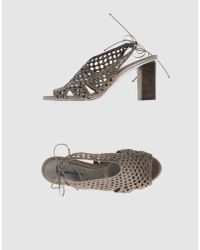 CoSTUME NATIONAL | Gray Sandals | Lyst
