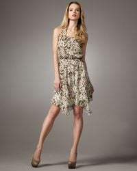 Leifsdottir | Green Amazon Meadow-print Silk Halter Dress | Lyst