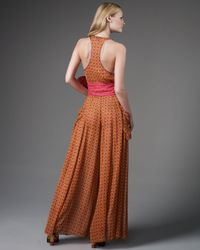 Marc Jacobs | Orange Belted Jacquard Jumpsuit | Lyst